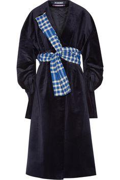 Jacquemus | Oversized belted velvet coat | NET-A-PORTER.COM