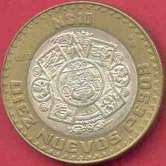 $10.00 pesos coin from 1993