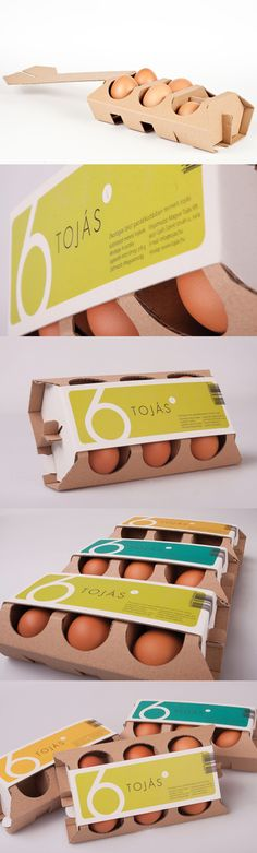 Tojas egg packaging design