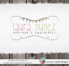 Photography Logo Bunting Flags Premade Logo Design by autumnscreek, $40.00