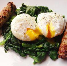 Paleo breakfast idea. Poached eggs
