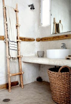 The Most Beautifully Rustic Bathrooms You'll Ever See via @domainehome