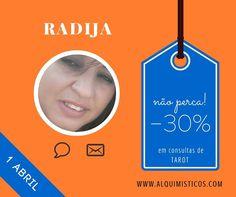 Promoção de 30% com a Radija no dia 01-04-2016.  Aproveite!