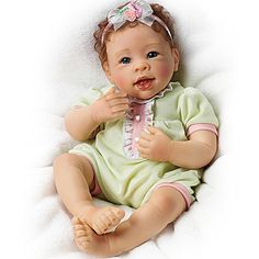 You know how babies laugh when you blow kisses on their tummies, and the amazing way it can fill your heart with joy? Now, bring home this Raspberry Kisses Baby Doll by award-winning doll artist Linda ...