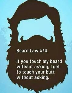 Important Beard Law....this is sooooo Bradd.