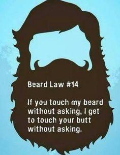 Important Beard Law....this is sooooo Bradd.