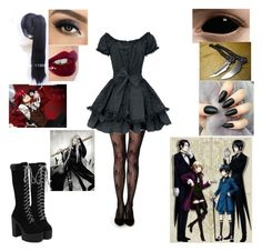 """""""Wanna do a Black Butler rp?"""" by melodey27 ❤ liked on Polyvore featuring Charlotte Tilbury"""