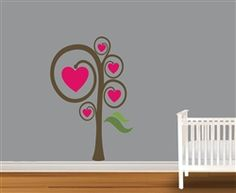 $39.99  Heart Tree Vinyl Wall Art Decal Peel and Stick Sticker