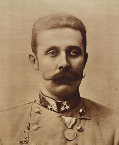 Archduke Franz Ferdinand of Austria. His assassination in Sarajevo precipitated Austria-Hungary's declaration of war against Serbia causing the Central Powers and the Allies of WW I to declare war on each other, starting WW I. Ww1 History, European History, World History, Modern History, Wilhelm Ii, Kaiser Wilhelm, World War One, First World, Ferdinand Movie