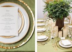 #Romantic Sage and Gold #Wedding  #WilliamsSJ  Rentals: Williams Party Rentals & Seventh Heaven Vintage Rentals Design: Seventh Heaven Vintage Rentals & Sealed with a Kiss Events Floral Arrangements: Vo Floral Design Stationary: Minted Cakes: Kaycakes Bakery Photographer: Olivia Richards Photography
