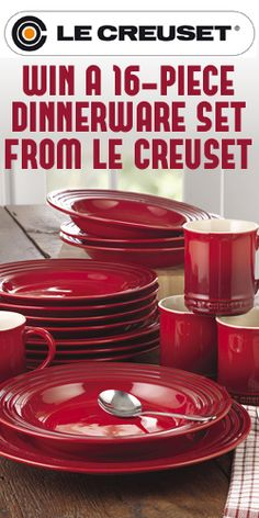 Win A 16-Piece Dinnerware Set From Le Creuset 10/20