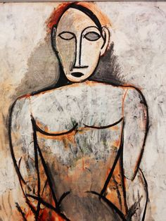 Study for Les demoiselles d'Avignon Woman With Joined Hands Study For Les Demoiselles d'Avignon is an oil on canvas painting by Pablo Picasso. Pablo Picasso Drawings, Picasso Art, Picasso Paintings, Art Stand, Pebble Art, Types Of Art, Art Auction, Medium Art, African Art