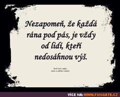 Podpásovky sú iba blchy, ktoré nik nevidí, a keď ich má, tak ich zničí chémiou. True Quotes, Motivational Quotes, Inspirational Quotes, Tarot, Motto, Cool Words, Slogan, Quotations, Texts