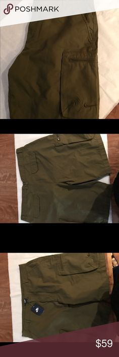 Brand New Men's Nike Cargo Shits. Size 40 Brand New Authentic Nike Cargo Shorts. They go down to the knee so they are not short shorts. Super comfortable shorts. I have a pair myself. . Everything I sell ships the same day or nest day. Buy from me with confidence. Please go see my stats. Thanks for stopping by. Nike Shorts Cargo