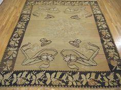 "Kilim & Flatweave 10' 10"" x 8' 6"" Vintage Kilim at Persian Gallery New York - Antique Decorative Carpets & Period Tapestries"