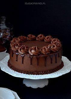 Cake Decorating Frosting, Cake Decorating Designs, Easy Cake Decorating, Cupcake Cake Designs, Simple Cake Designs, Cupcake Cakes, Chocolate Cake Designs, Chocolate Truffle Cake, Oreo Cake Recipes
