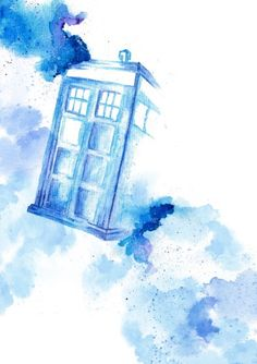 Doctor Who Tardis, Art Doctor Who, Watercolor Cards, Watercolor Print, Watercolor Paintings, Desenhos Doctor Who, Doctor Who Wallpaper, Tardis Wallpaper, Paintings