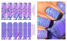 Get these beautiful nail art designs with less effort with my Jamberry NAS creations. Contact me to order. Purple Marble Pink Blue and Purple Marble www.facebook.com/mmporte