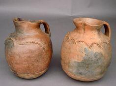 #1-179 Antique ceramic pitchers – Guatemala A: 12×15.5H B: 12x16H