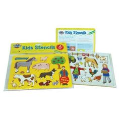 Farmyard Stencils, Pack Contains 2 Stencils: Amazon.co.uk: Toys & Games -  Price:£3.99