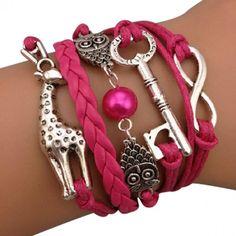 Giraffe and Owls Infinite Arm Party Bracelet @Katie DiFabio