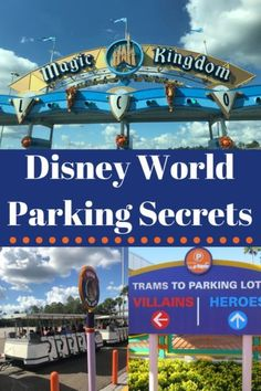 These Disney World parking secrets are direct from the pros! How to navigate the parking lots without hassle, keep your car safe, what to do if you have vehicle issues at Disney and even how to save money! Disney World Parks, Walt Disney World Vacations, Disney Travel, Disney Vacation Planning, Disney World Planning, Trip Planning, Planning Board, Vacation Ideas, Disney World Tips And Tricks