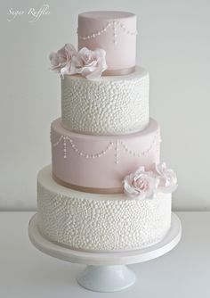 Pink Wedding Cakes Beautiful Blush Wedding Cake by Sugar Ruffles. Ornate Pearl Effect Mould - Karen Davies Sugarcraft. - Create perfect pearl designs in seconds! This mould allows you to cover entire tiers in a beautiful pearl pattern quickly and easily! Wedding Cake Pearls, Blush Wedding Cakes, Big Wedding Cakes, Wedding Cake Decorations, Elegant Wedding Cakes, Beautiful Wedding Cakes, Wedding Cake Designs, Beautiful Cakes, Wedding Fayre