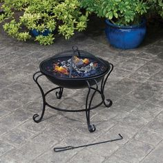 Garden Fire Pit Heater Outdoor Party Patio Firepit Stove Grate Steel Fire Stick