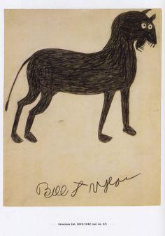 Bill Traylor I Ferocious Cat I ca. Art And Illustration, Illustrations, Outsider Art, Tinta China, Art Brut, Naive Art, Weird Art, Artist Art, Black Art