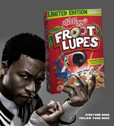 Cereal and Liquor. Lupe Fiasco nose to follow his nose.