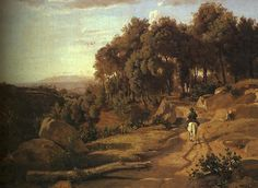 A View near Volterra, oil on canvas, The Nationa, 1838 by Jean Baptiste Camille Corot (Fine Art Art reproduction Jean Baptiste Camille Corot) Art Paintings For Sale, Old Paintings, Landscape Paintings, Landscapes, Barbizon School, World Famous Artists, Jean Baptiste, National Gallery Of Art, Art Database