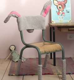 DIY cute bunny chair