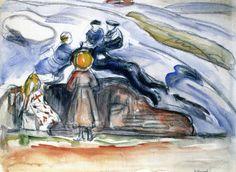 The Athenaeum - Children at Play (Edvard Munch - )