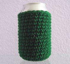 Can Cover Cozy Green Bottle Coaster by NanaLetha on Etsy