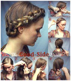 half crown braid