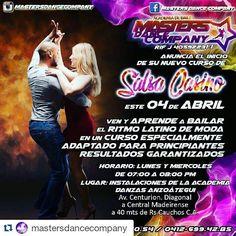 #Repost @mastersdancecompany with @repostapp  Aprovecha de aprender y gozar con nosotros al mejor estilo de la Salsa!! NUEVO CURSO DE SALSA CASINO! Lunes y miércoles de 7 a 8 pm  Animate a formar parte de nuestra #PotenciaMorada  #SalsaCasinoVenezuela #Salsa #SalsaCasino #Timba #BailaSalsaCasino #SalsaDance #DanceSalsa #DanceSalsaCasino #SiBailasSalsaCasinoEstasAqui
