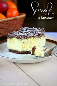 Domowe Wypieki: SERNIK Z ODROBINĄ KOKOSU Polish Desserts, Polish Recipes, Cookie Desserts, No Bake Desserts, Cookie Recipes, Carrot Cake Cheesecake, Kolaci I Torte, Sandwich Cake, Cake Bars