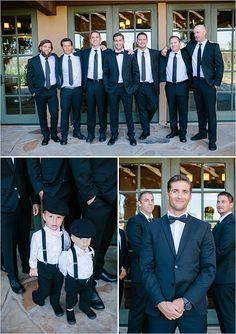 classy black and white groomsmen @weddingchicks