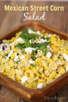 This Mexican Street Corn Salad is one of the best things I've ever eaten!  This quick and easy recipe is bursting with flavor.  It will quickly become one of your favorite recipes!