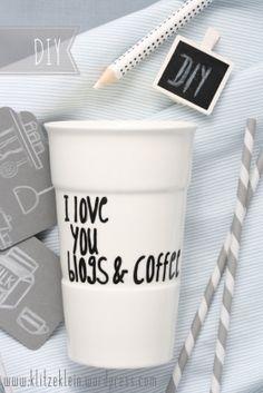 So einen Kaffeebecher brauche ich auch :-)
