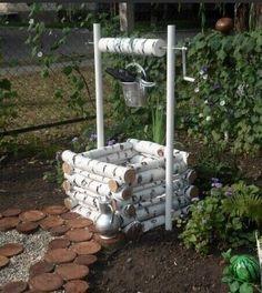 Diy Garden Fence, Diy Garden Decor, Garden Art, Wood Log Crafts, Twig Crafts, Natural Furniture, Pot Jardin, Covered Garden, Vegetable Garden Design