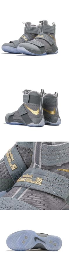 official photos 1f800 68526 Basketball New Sz 11.5 Men S Nike Lebron Soldier X 10 Battle Grey Metallic  Gold