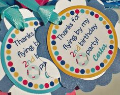 Airplane Birthday Party Decorations - Tags via Etsy
