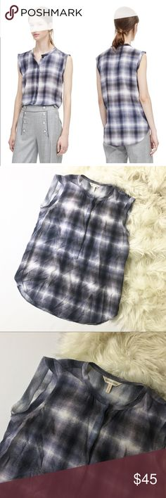 Rebecca Taylor Shadow Plaid Top Rebecca Taylor silk blouse, women's size 2. Excellent pre owned condition! No trades. Rebecca Taylor Tops Blouses