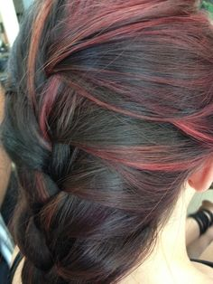 Pin up hairstyles are hot and the victory rolls hairdo is a this is how i did my daughters hair crimson highlights bleached first of course with dark pmusecretfo Images
