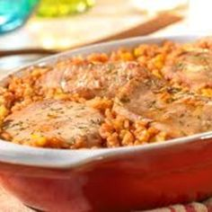 Spanish Rice and Pork Chops