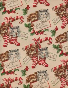 kitty wrapping paper