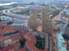 四面採光又能走出戶外-OMA 設計瑞典的 Norra Tornen 頂級公寓 - EVERYDAY OBJECT Minecraft Skyscraper, Oscar Properties, Facade Engineering, Theme Hotel, New District, Innovative Architecture, Tower Design, Residential Complex, High Rise Building