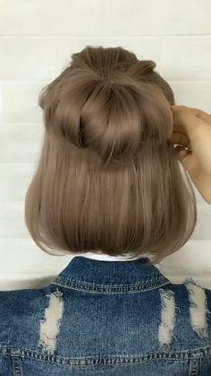 Short Hair Styles Easy, Braids For Short Hair, Cute Hairstyles For Short Hair, Medium Hair Styles, Kawaii Hairstyles, Diy Hairstyles, Shot Hair Styles, Hair Styler, Aesthetic Hair