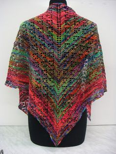 Will's Wools Kleurrijke Koigu KPPPM omslagdoek! Koigu KPPPM Fabulous Lace Shawl!